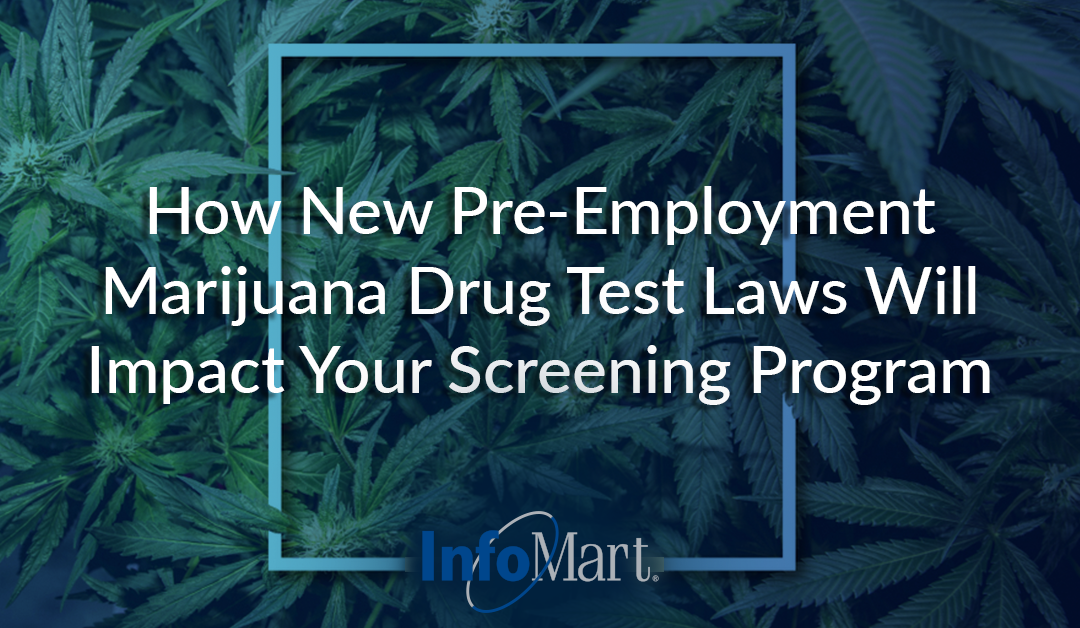How New Pre-Employment Marijuana Drug Test Laws Will Impact Your Screening Program