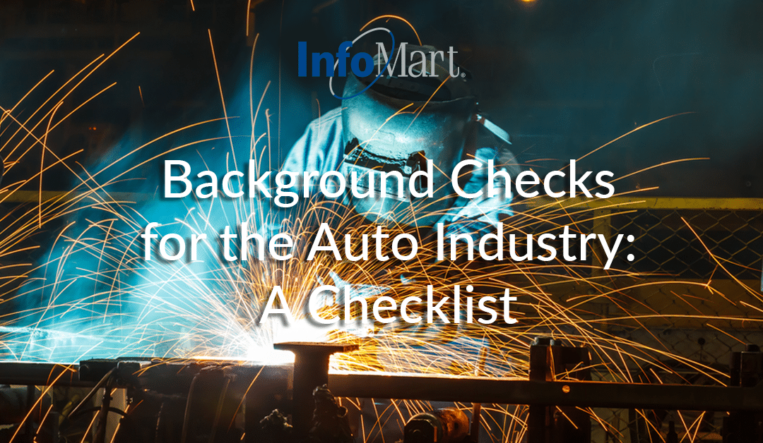 Background Checks for the Auto Industry: A Checklist